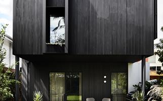 Black timber home exterior