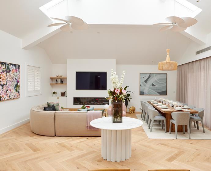 "[Herringbone floors](https://www.carpetcourt.com.au/flooring/grandoak-herringbone|target=""_blank""|rel=""nofollow"") feature throughout Mitch and Mark's entire living space."