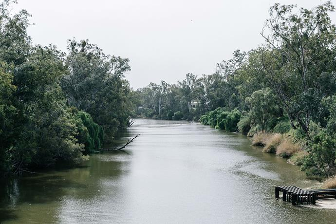 The Macintyre River forms a natural border with NSW and keeps Goondiwindi green and spirits high during the dry.