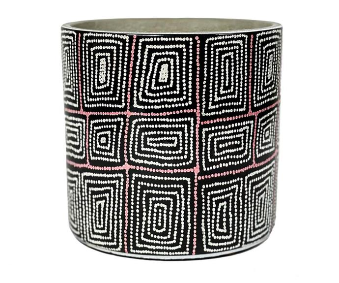 """Bunnings' new range of planters includes a collection designed in collaboration with Warlukurlangu artists. The design on this 16cm **[cement planter. $16.99](https://www.bunnings.com.au/warlukurlangu-16cm-womens-dreaming-2-cement-planter_p0262528 target=""""_blank"""" rel=""""nofollow"""")**, is entitled 'Womens Dreaming 2' and was painted by Carol Nampijinpa Larry. Sales from this range will benefit the artist and their community."""