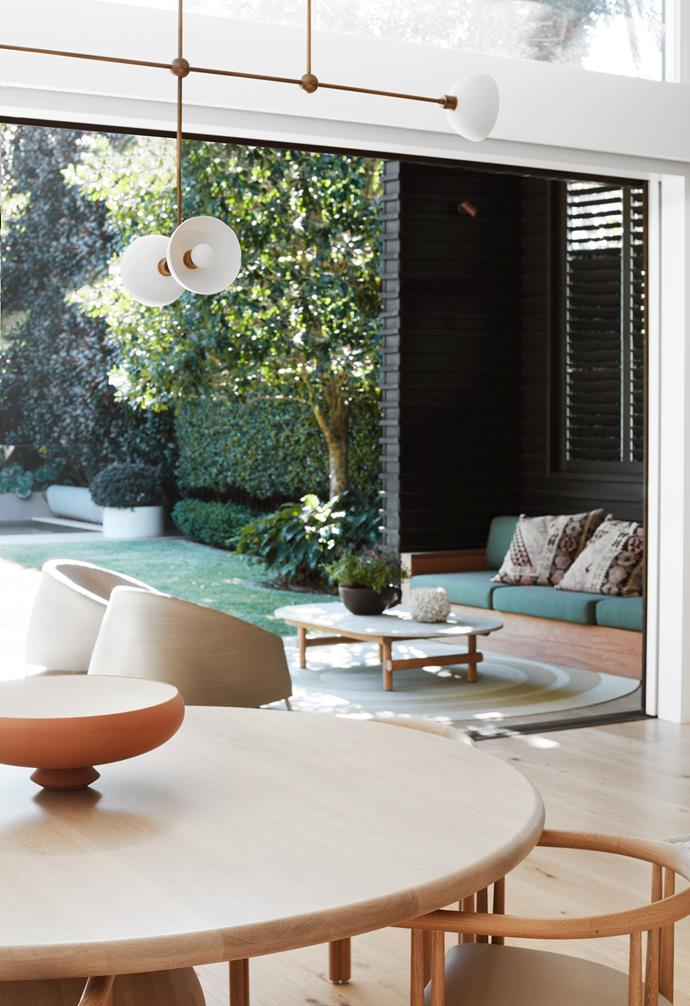 """The [dining area](https://www.homestolove.com.au/relaxed-dining-area-ideas-3675