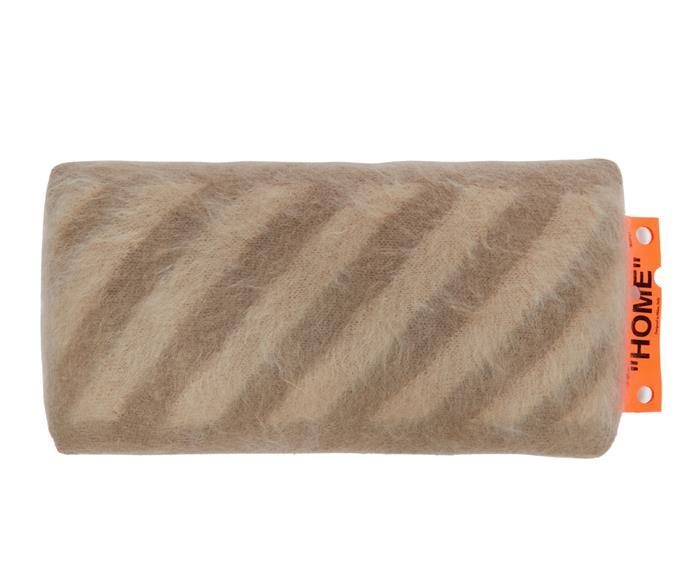 Off-White HOME diagonal cushion, $470.