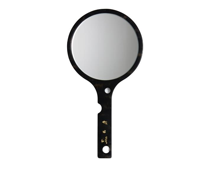 Off-White HOME 'Meteor' hand mirror, $425.