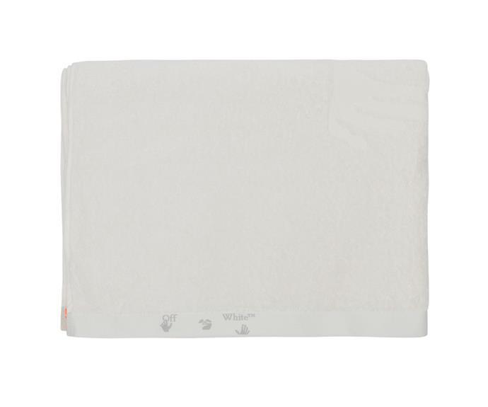 Off-White HOME logo shower towel, $290.