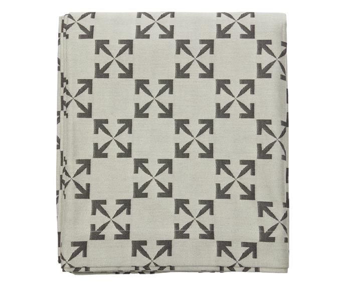 Off-White HOME Arrow pattern tablecloth, $410.