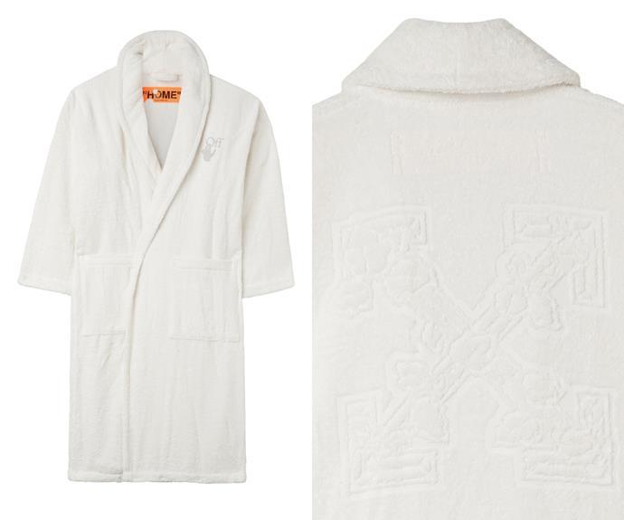 Off-White HOME Arrow leaves bathrobe, $520.
