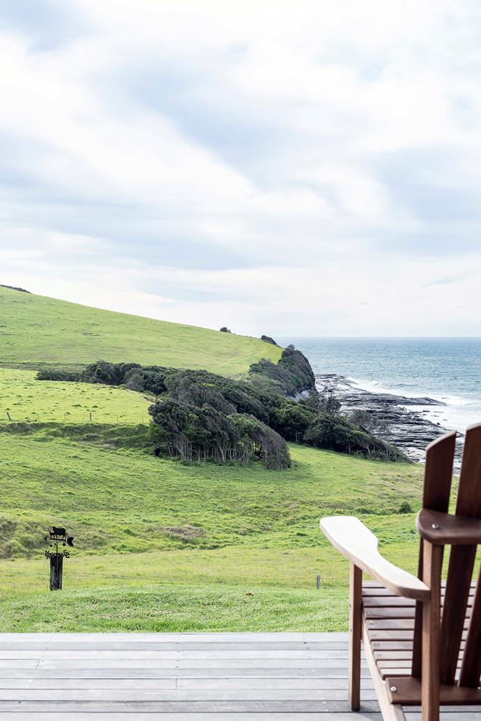 """""""We love to sit on the deck at mealtimes,""""says the owner. """"We have a little hibachi grill on the table – between the food and the ocean, it's a very sensory experience. At night, we light a chimenea to roast marshmallows and stargaze. It really is heaven."""" Chair, [Adirondack Chairs Australia](https://www.adirondackchairsaustralia.com.au/