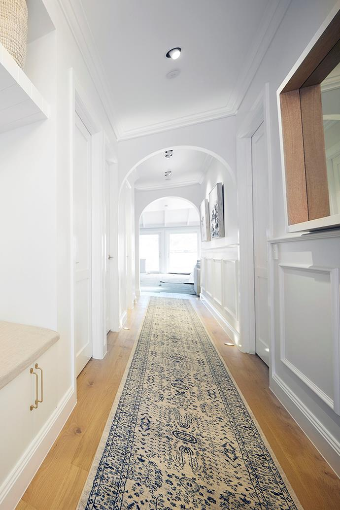 Kirsty and Jesse's entrance hallway featured a series of archways.