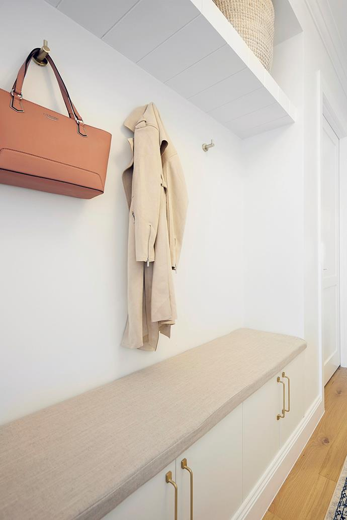 The judges loved the storage space Kirsty and Jesse included in their entrance hallway.