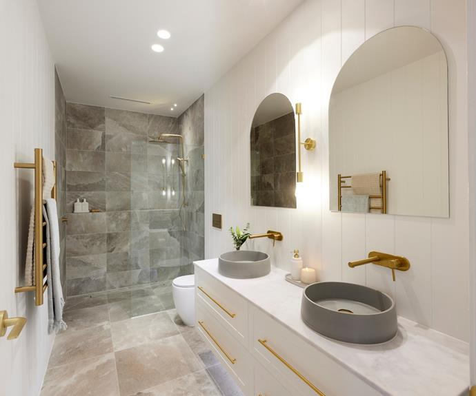 Kirsty and Jesse also managed to complete an entire bathroom.