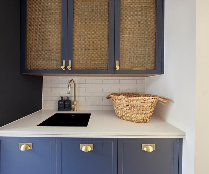 The laundry featured the same finishes and colour scheme as their winning kitchen.