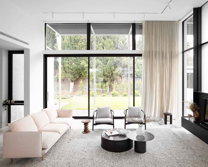 Herring sofa by Nonn and Partition coffee table, both from District.