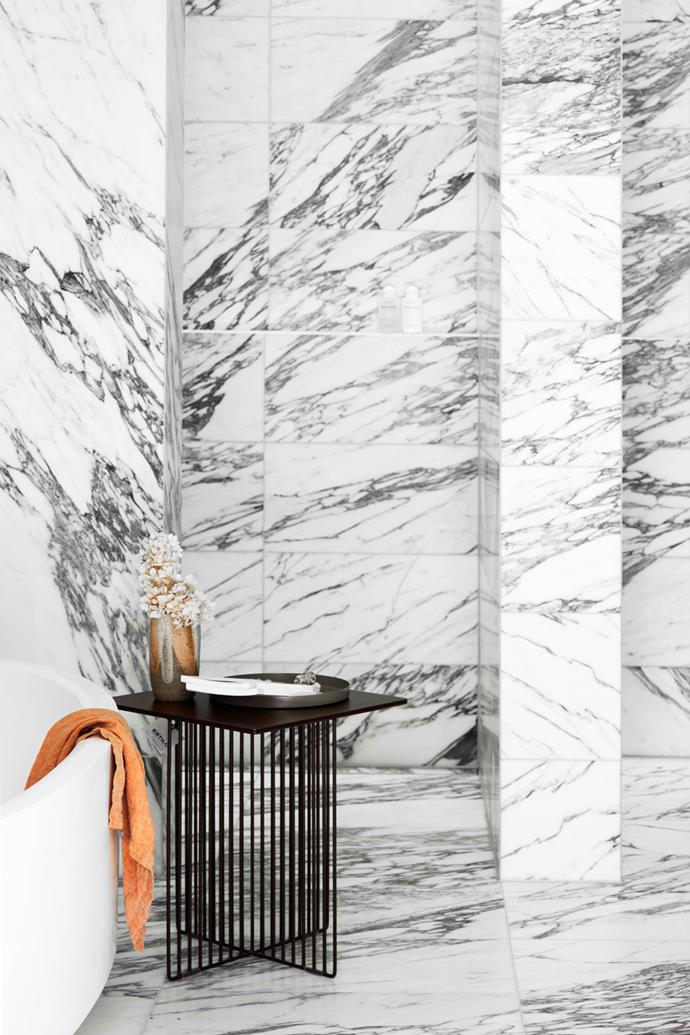 The deeply-veined marble was one of Belinda's must-have items for the home.