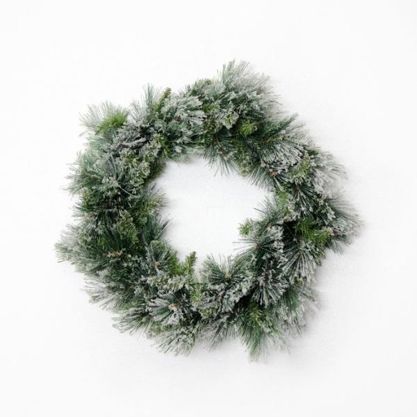 "Fir snow wreath, from $39.95, [Papaya](https://www.papaya.com.au/fir-snow-wreath-large-1|target=""_blank""|rel=""nofollow"")"