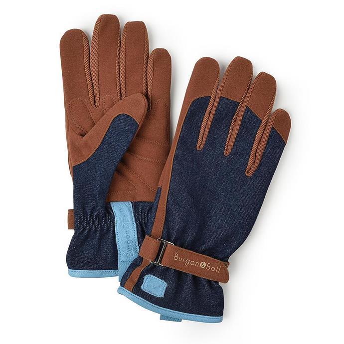 "Love the Glove Women's Gloves in Denim, $45, [Backyard Botanist](https://backyardbotanist.com.au/products/burgon-ball-love-the-glove-womens-gardening-gloves?variant=39321808765123|target=""_blank""|rel=""nofollow"")"