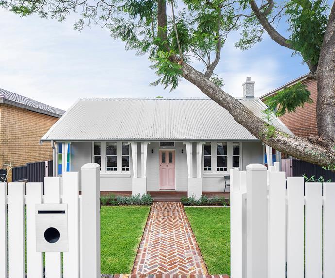 White brick Federation cottage exterior