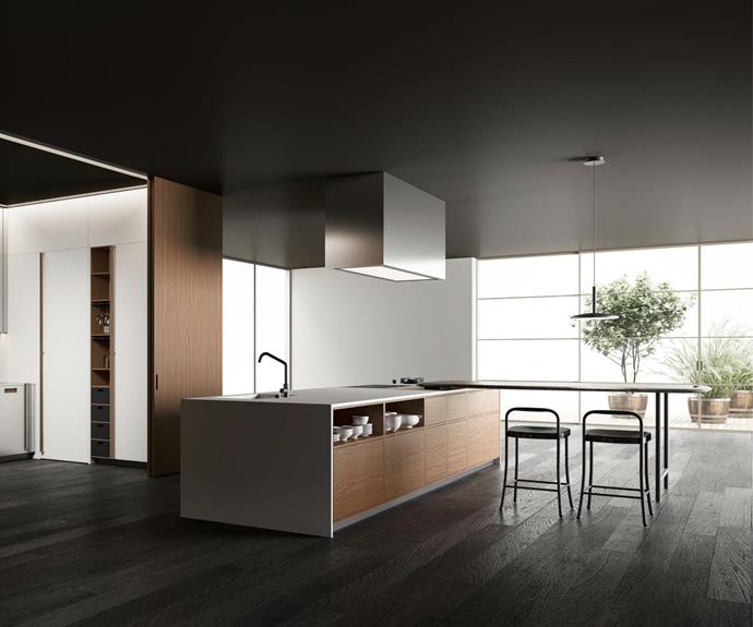 """Rather like a modular sofa configuration, iconic kitchen design company [Boffi](https://www.boffi.com/en-us/
