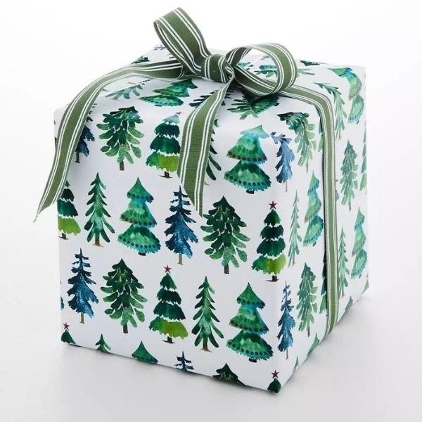 """Jolly Wrapping Paper in Forest, $9.95, [Provincial Home Living](https://www.provincialhomeliving.com.au/jolly-classic-tree-wrapping-paper-1117260437 target=""""_blank"""" rel=""""nofollow"""")"""