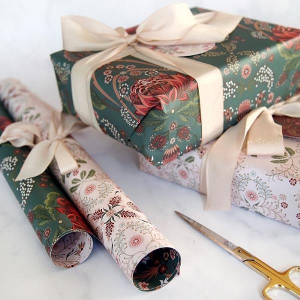 """Bush Teal / Grevillea"" double sided gift wrap, $28.95, [bespoke letterpress](https://bespokepress.com.au/collections/double-sided-gift-wrap/products/bush-teal-grevillea-6pk target=""_blank"" rel=""nofollow"")"