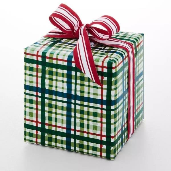"""Jolly Classic Plaid Wrapping Paper, $9.95, [Provincial Home Living](https://www.provincialhomeliving.com.au/jolly-classic-plaid-wrapping-paper-1117260440 target=""""_blank"""" rel=""""nofollow"""")"""