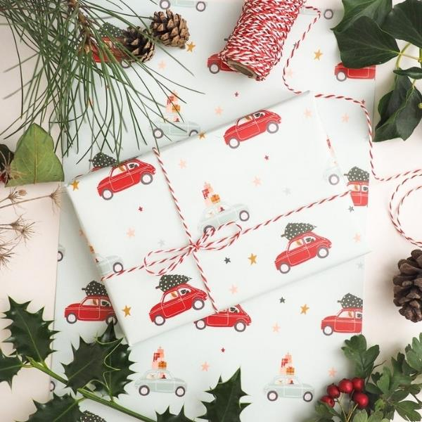 """The Black Pug Press Pug print Christmas wrapping paper, $5.40, [Etsy](https://www.etsy.com/au/listing/639126342/pug-christmas-wrapping-paper-dog?ref=shop_home_recs_2 target=""""_blank"""" rel=""""nofollow"""")"""