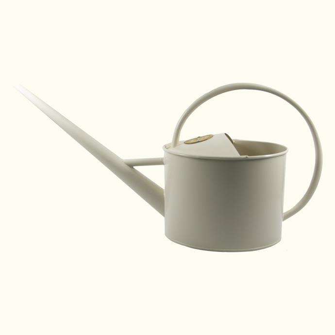 """Sophie Conran Watering Can in Cream 1.7L., $49, [The Plant Runner](https://theplantrunner.com/collections/watering-tools/products/sophie-conran-watering-can-cream-1-7-litres