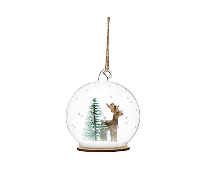 "Standing Deer Dome Glass Ornament, $12.99, [Adairs](https://www.adairs.com.au/homewares/christmas/adairs/standing-deer-dome-glass-ornament/|target=""_blank""|rel=""nofollow"")."