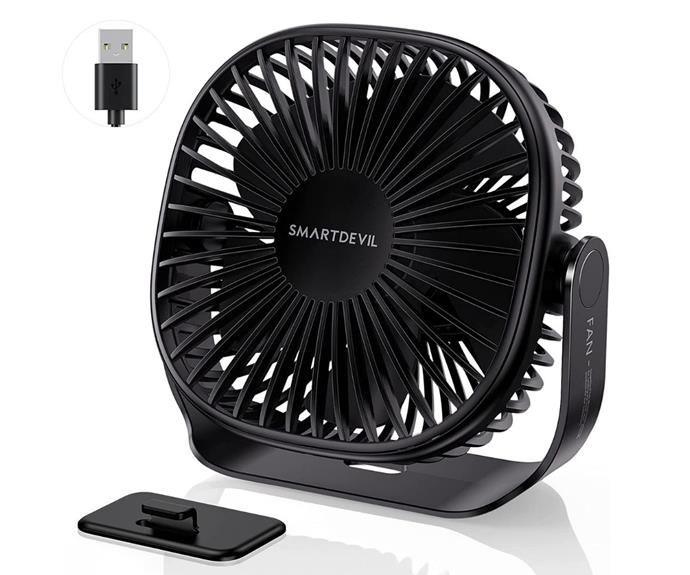 """**[SmartDevil small USB desk fan, $29.99, amazon.com.au](https://www.amazon.com.au/SmartDevil-Portable-Pasteable-Adjustment-Operation/dp/B08YQW16VM
