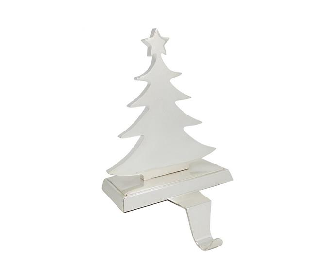 """**Christmas Tree Stocking Holder, $69.95, [David Jones](https://www.davidjones.com/home-and-food/christmas/christmas-home-decor/23449022/19cm-CHRISTMAS-TREE-STOCKING-HOLDER.html target=""""_blank"""" rel=""""nofollow"""")**  Ever wondered how to hang stockings without damaging your beautiful stone mantlepiece? This clever stand does the job for you! Beautiful, functional and classically Hamptons in style."""