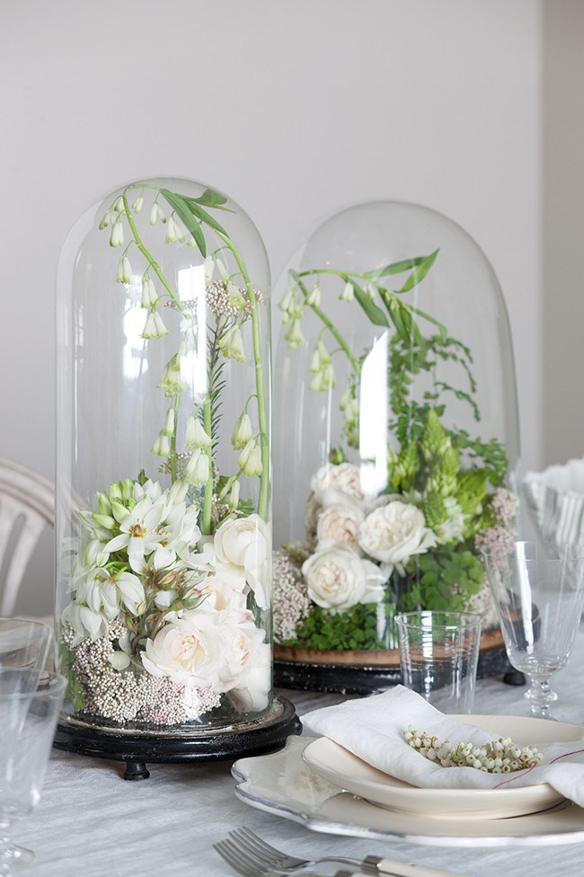3\. Think of [**new ways to display spring flowers**](http://www.homelife.com.au/decorating/galleries/flower+display+ideas,13729). Containing these fresh blooms in glass bell jars gives them a sculptural feel and will create a talking point for guests.   Photo: Craig Wall