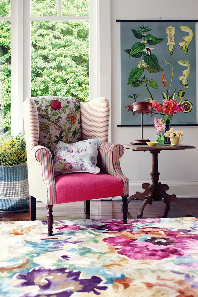Floral manchester can bring some perpetual springtime to your living spaces. Up for a challenge? [**Upholster a statement chair**](http://www.homelife.com.au/decorating/trends/how+to+re+cover+a+chair+,4217). | Photo: Craig Wall