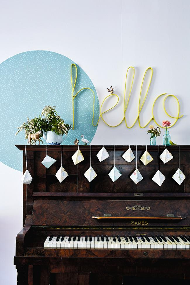 """**Handmade garlands:** """"Getting creative with paper is an easy way to evoke festive spirit,"""" Peta advises. Drape some [DIY Christmas bunting](https://www.homestolove.com.au/how-to-make-christmas-bunting-16837