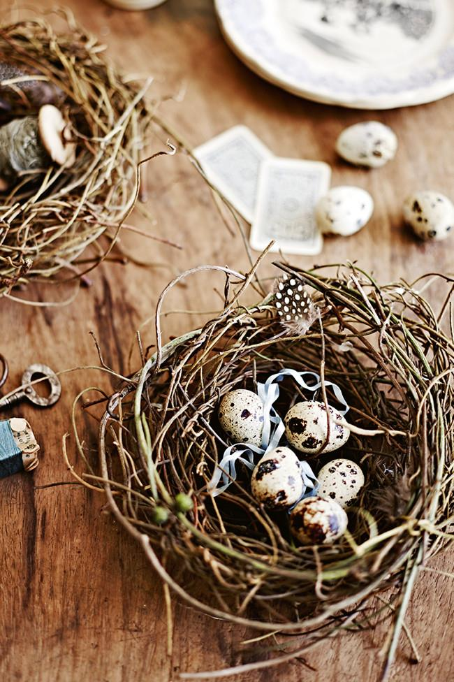 "**Make an Easter bird's nest:**  This decorative little bird's nest will add a natural, rustic touch to your Easter decor or table setting. Fill it with edible chocolate eggs for an extra special touch.   [How to make an Easter bird's nest](https://www.homestolove.com.au/how-to-make-an-easter-birds-nest-10430|target=""_blank"") >"