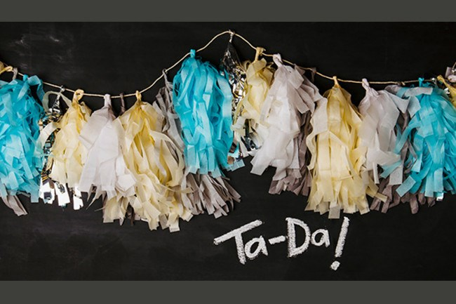 Tassel garland. Add some sparkle and shine to your wedding decorating scheme with this fun tassel. Pair on-trend metallics with soft shades to create a fresh and fabulous tassel garland, sure to be an instant hit. [How to make a tassel garland](http://www.homelife.com.au/craft-diy/diy/how-to-make-a-tassel-garland)