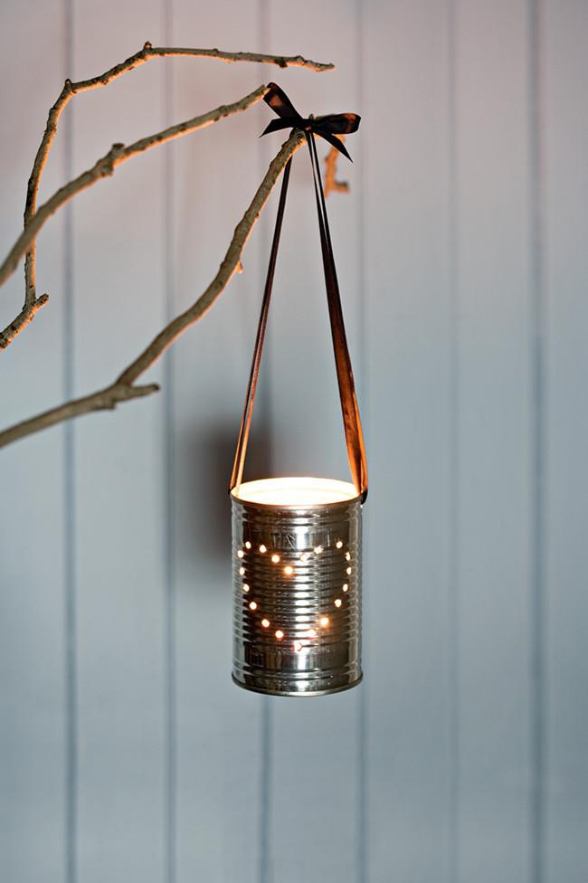Twinkling lanterns. Talk about upcycling! Turn empty tins of into customised twinkling lanterns strung with beautiful silk ribbons. [How to make a twinkling lantern](http://www.homelife.com.au/craft-diy/diy/how-to-make-a-lantern) | Photo: Scott Hawkins