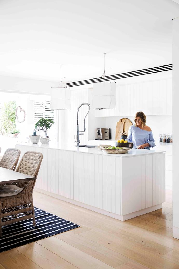 With two hungry teens to cater for, Kylie's gorgeous kitchen had to be functional.