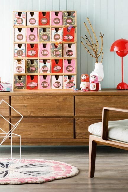 """**Retro inspired [advent calendar](https://www.homestolove.com.au/diy-christmas-advent-calendar-4385