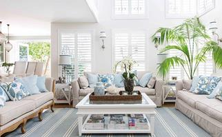 Hamptons living room makeover
