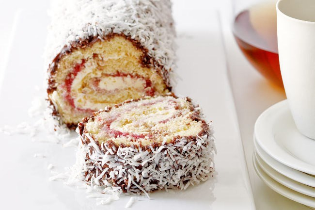 **Lamington Roll** | A distinctively Australian dessert - lamingtons! [Click here for recipe](/food/2378/lamington+roll)