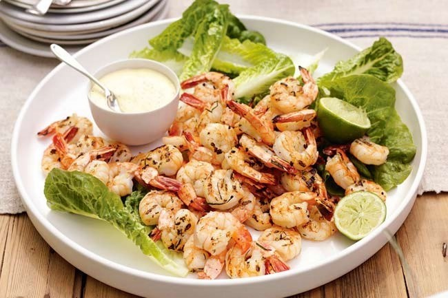 **Shrimp on the barbie** | A stereotype never tasted this good! [Barbecued prawns with ginger and mango mayonnaise](/food/1704/barbecued+prawns+with+ginger+and+mango+mayonnaise)