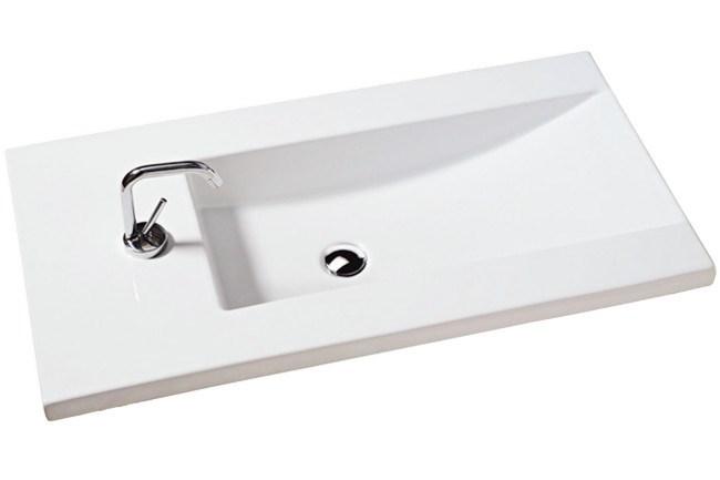 White Stone 'Om' vanity/wall basin ,from [Reece](http://www.reece.com.au/).