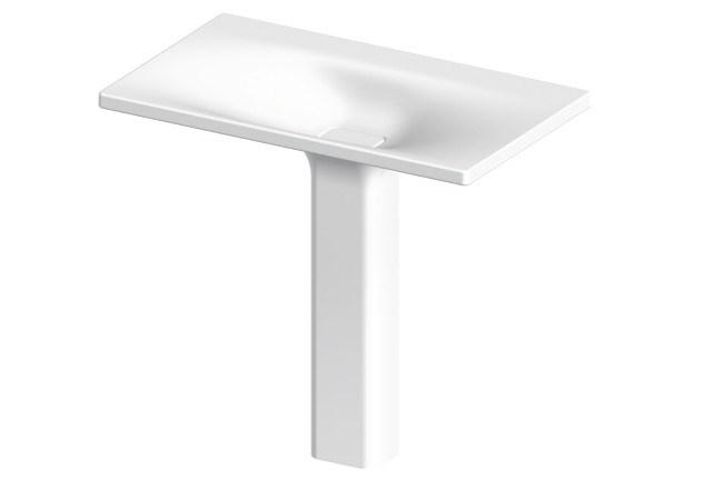 Zucchetti Kos 'Faraway' pedestal basin, from [Streamline Products](http://www.streamlineproducts.com.au/).