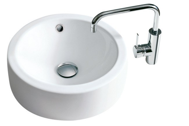 Geo 400 Above Counter basin, and Liano sink mixer, from [Caroma](http://www.caroma.com.au/).