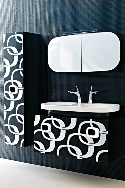 Laufen 'Mimo' double basin, cabinet, mirror and tapware, from [Bathe](http://www.bathe.net.au/).