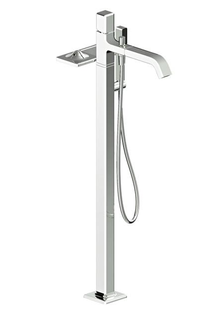 **Bath mixer |** Zucchetti Kos 'Faraway' bath mixer with hand shower, from [Streamline Products](http://www.streamlineproducts.com.au/).  _Image courtesy of supplier._