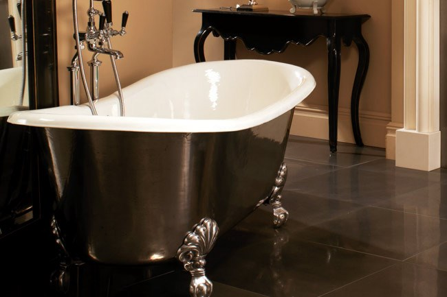 A contemporary take on classical styling breathes new life into the clawfoot bath. The design team at [Devon and Devon](http://www.devon-devon.com/english/home.html) encourages us to view the bathroom as another furnished room, as opposed to a purely functional space. The cast iron admiral bath is available in 24 colours, including a hand polished metallic finish, and can be teamed with a variety of basins.  _Image courtesy of Devon & Devon_