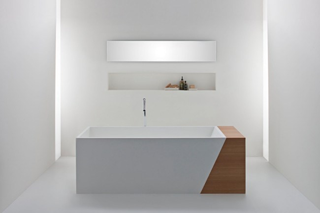 'Latis' bath with timber end, from [Omvivo](http://www.omvivo.com/).