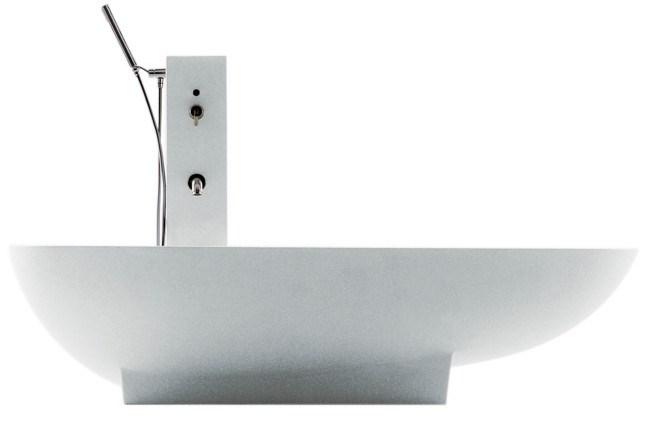 Agape 'Spoon VAS901' bath with atching tap pillar, from [Artedomus](http://www.artedomus.com)