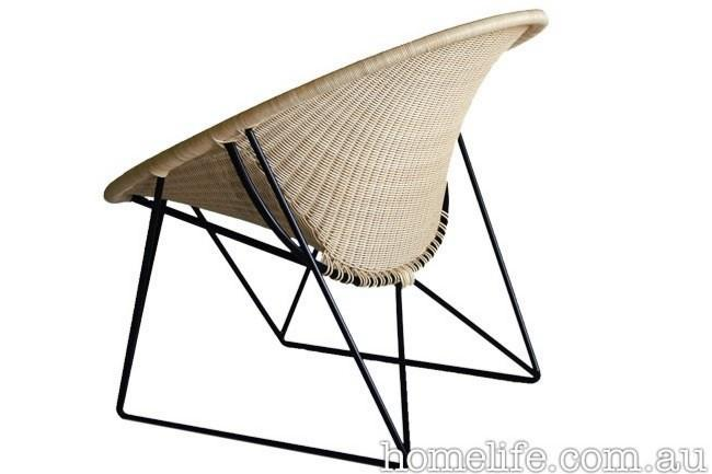 'C317' basket with rattan shell and steel frame, from Spence & Lyda.