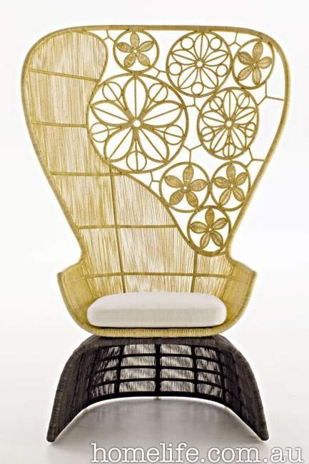B&B Italia 'Crinoline' highback chair, from [Space](http://www.spacefurniture.com.au/).  Image courtesy of Space Furniture.
